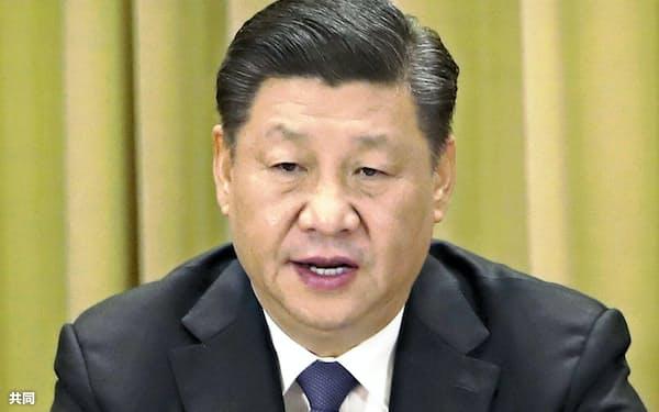 19年1月に台湾政策で演説した習近平国家主席(北京)=共同