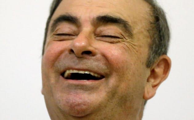 ゴーン被告はブラジル紙とのインタビューで、日本からレバノンへの逃亡について言及した(写真は8日のレバノンでの記者会見)=ロイター