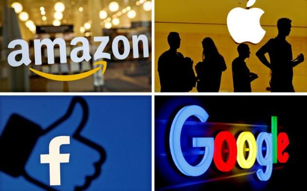 株式市場で巨大IT企業の存在感が高まっている=ロイター