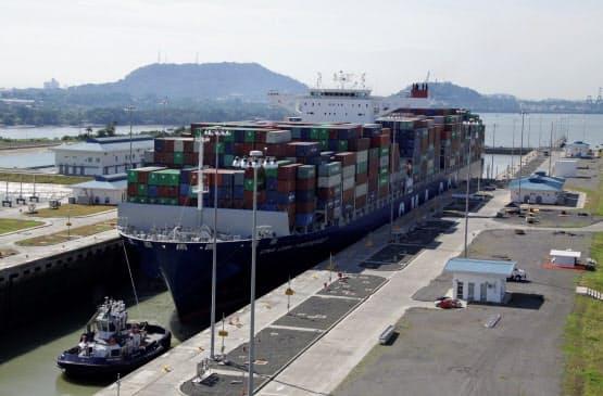 水不足でパナマ運河の通航に支障が出る可能性がある=ロイター