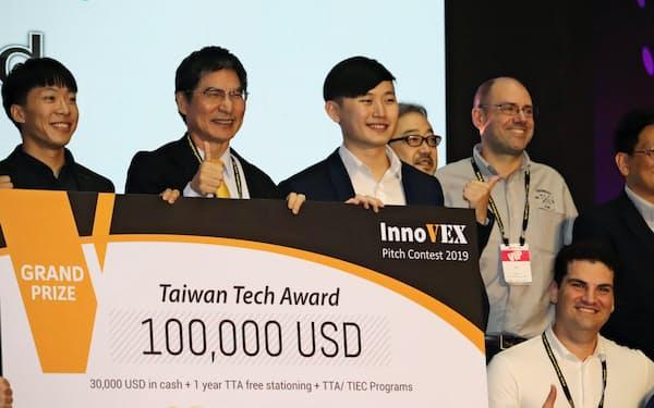 台湾当局は創業環境の整備が急務だ(台北市で19年5月に開かれたスタートアップのコンテスト)