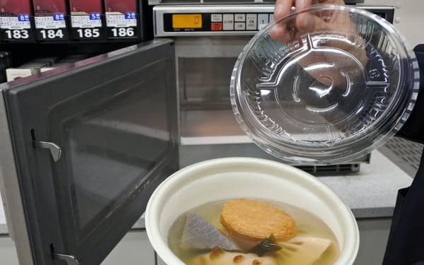 電子レンジで温めて提供するおでんの販売を始めた(東京・豊島)
