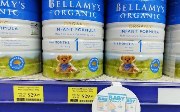 今も粉ミルクの購入制限を行う小売店は多い(シドニー)