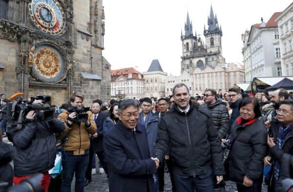 チェコのプラハ市は台湾の台北市と姉妹都市協定を結んだ=AP