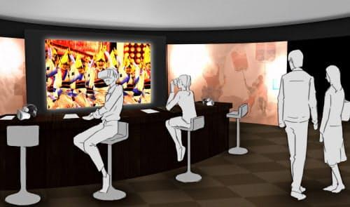 阿波おどり会館(徳島市)に設置される阿波おどりVR体験施設(イメージ)