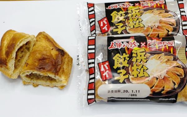 マルト神戸屋が発売した「浜松餃子パイ」