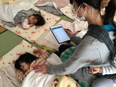 IoTを昼寝中の子どもの見守りに役立てる(埼玉県川口市)