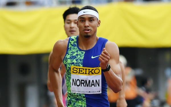 ノーマンは男子400メートルで昨季の世界最高記録をマーク、東京五輪「金」だけを見据える