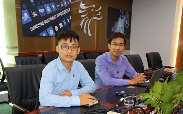 ロンベト証券のグエン・ティエン・ホアン・アナリスト(左)、ヴー・アイン・トゥ・エコノミスト(右)