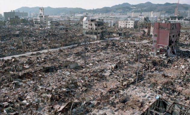 焼け野原になった神戸市長田区(1995年1月)