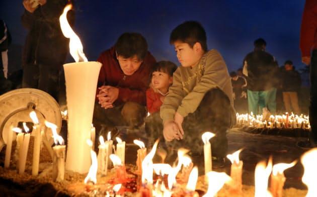 阪神大震災25年 追悼の灯