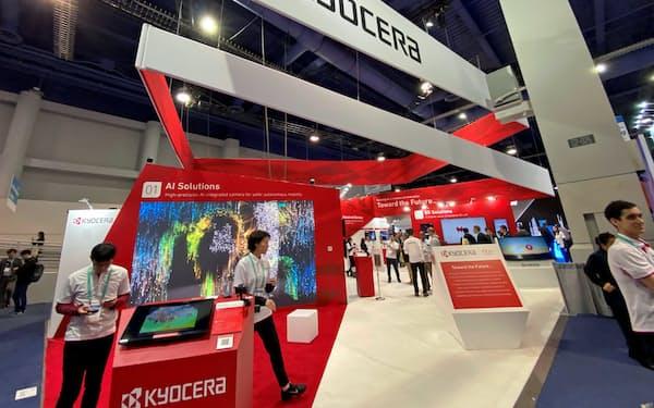 京セラはCESに初出展し、5G対応製品をアピールした