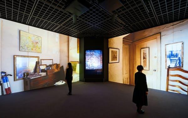 Bunkamuraザ・ミュージアムでのデジタル展示の様子(Bunkamura提供)