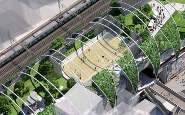 渋谷区は3階建て商業施設の屋上に公園を整備する(イメージ)