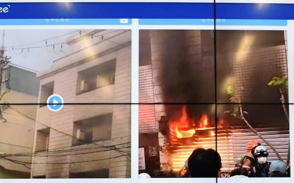 スペクティがSNSから収集した火災の投稿画像