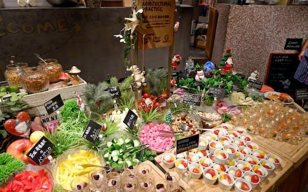グランイート銀座(東京・中央)では、提供する食材の約9割がGAP認証を取得している