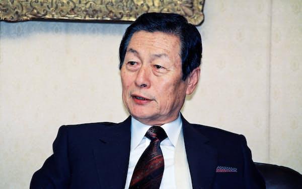 ロッテの創業者、重光武雄氏(1990年2月)