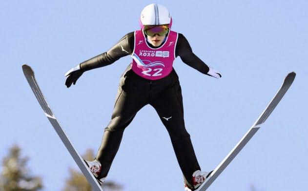 ノルディックスキーのジャンプ女子で5位だった久保田真知子(フランス東部)=ゲッティ共同