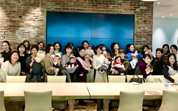 ベネッセが主宰するオンラインサロンのイベントに集まった子育て中の女性