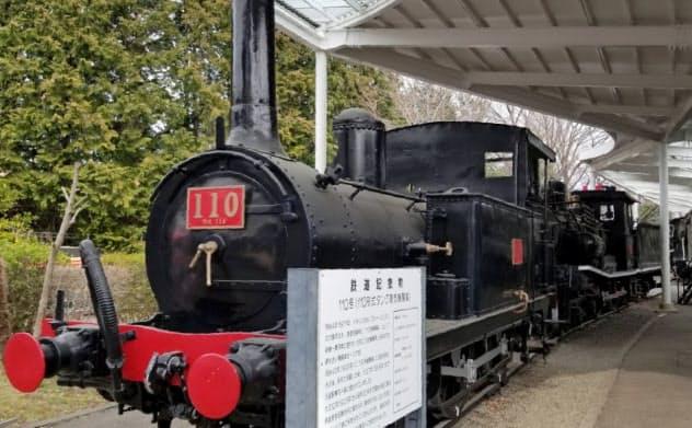 青梅鉄道公園に展示されていた110形蒸気機関車