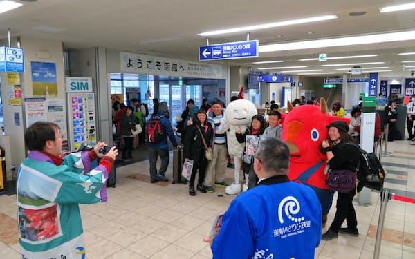 台湾線は、函館空港唯一の国際路線だ