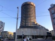 国際決済銀行(BIS)は気候変動による金融危機を警戒する(20日、スイス・バーゼルの本部)