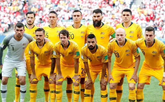 新CEOのジョンソン氏はアンダーエージの代表経験もある。写真は2018年ワールドカップ(W杯)ロシア大会のオーストラリア代表=ロイター