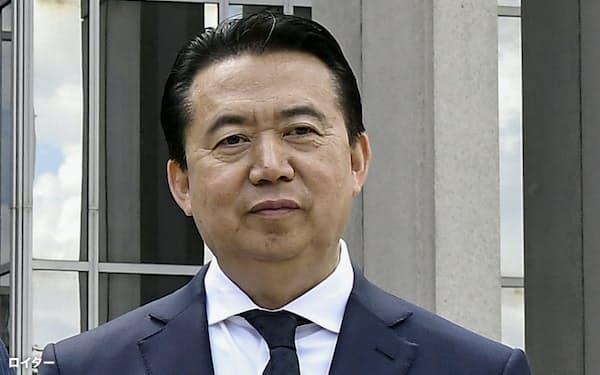 国際刑事警察機構(ICPO)前総裁の孟宏偉氏=ロイター