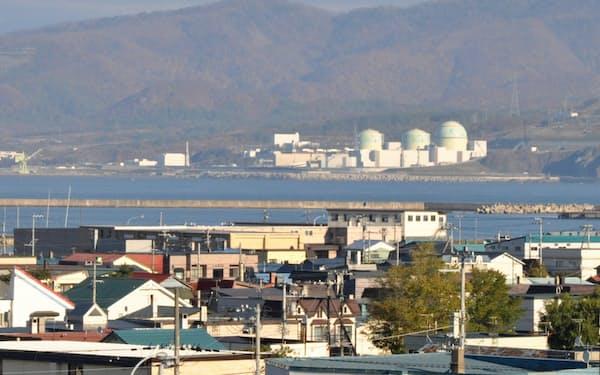 北電の泊原子力発電所は停止が長引いている(北海道泊村)