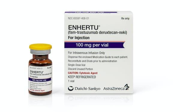 新型抗がん剤「エンハーツ」を米国で発売した。
