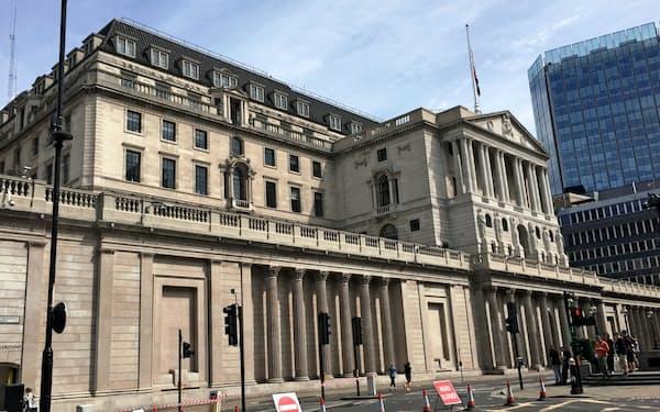 英中央銀行イングランド銀行の本店(ロンドン)