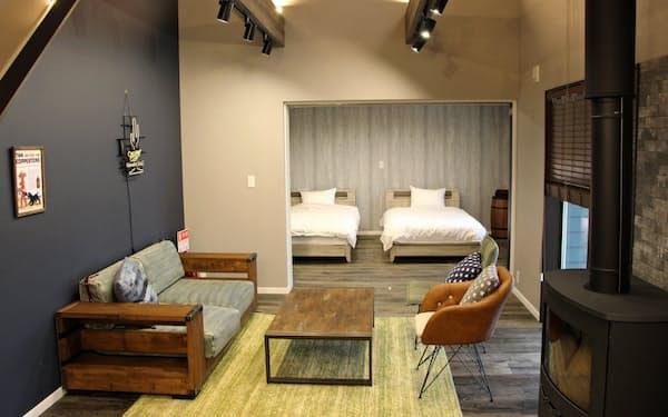 眺望や内装のデザインが異なる別荘を1棟1泊約3万円から借りられる(栃木県那須町)