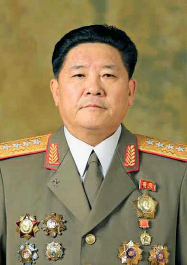 北朝鮮の金正官人民武力相=コリアメディア提供・共同