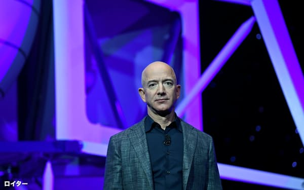 アマゾン・ドット・コムの最高経営責任者(CEO)のベゾス氏=ロイター