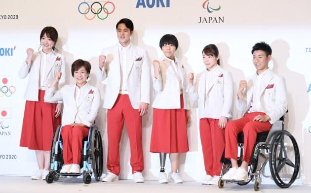 東京五輪・パラ、日本選手団の開会式ユニホーム公開