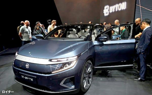 CESに出展した中国EVメーカー、バイトンは2021年の米欧進出を目指す=ロイター
