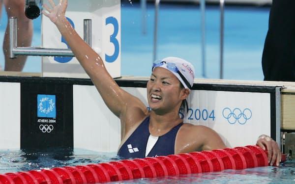 アテネ五輪の競泳女子800メートル自由形で金メダルを獲得した柴田