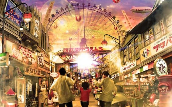 西武園ゆうえんちはリニューアルで1960年代の街の温かみが感じられるデザインにする(写真はイメージ)