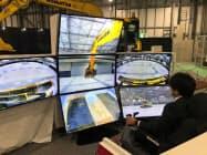 コマツは5G通信を使った建機の遠隔操作に取り組む(東京都江東区)