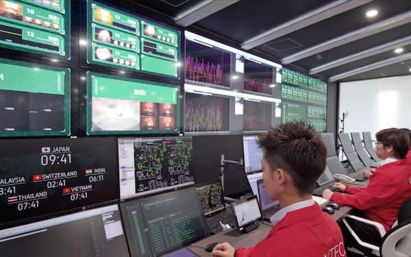大阪市にある本社敷地内の施設でごみ焼却発電施設を遠隔監視する