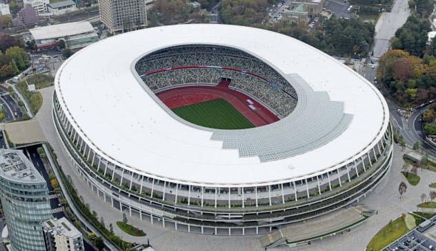 東京五輪・パラリンピックのメイン会場として開閉会式などが行われる国立競技場