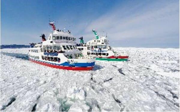 網走市で砕氷船の運航が始まり流氷観光シーズンを迎えた