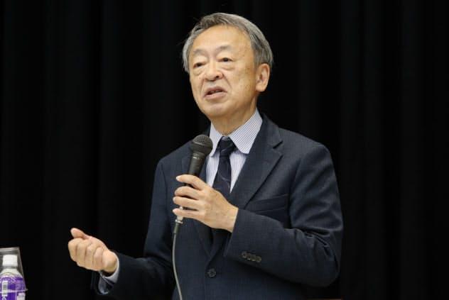 「世界の動きを知ってほしい」と池上氏は若者たちに呼びかけた(2019年12月、立教大学池袋キャンパス)