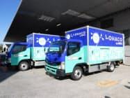 三菱ふそうトラック・バス(川崎市)がオフィス通販最大手のアスクルに納車した電気小型トラック「eキャンター」