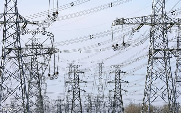 発電量は経済全体の動きを映す(北京郊外)=ロイター