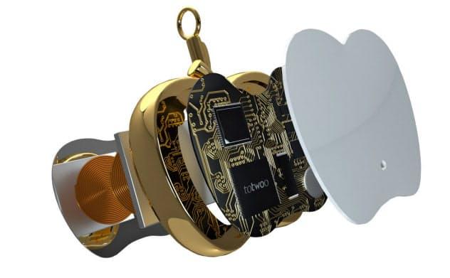 防犯グッズ「TOTWOO智能平安果」は通信機能も備え自動で救助を求められる(北京心有霊犀科技提供)