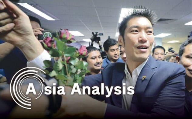 タナトーン党首が率いるタイの新未来党は、憲法裁判所の判決でひとまず解党を免れたが…(1月21日、バンコク)=小高顕撮影
