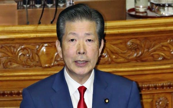 参院本会議で代表質問する山口那津男氏