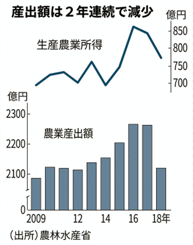 静岡県の農業産出額、18年は6%減 野菜や茶の相場下落: 日本経済新聞