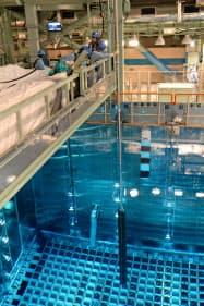 高浜原発3号機の燃料保管プール(撮影は2017年5月)